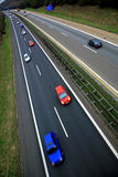 Autobahn. Colorful cars driving on the German autobahn Stock Photo