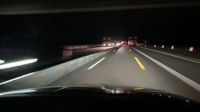 Autobahn alemán de las obras por carretera cerca de Francfort almacen de video