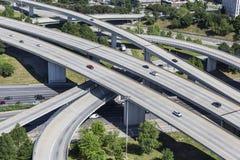 Autobahn-Antenne Stockfoto