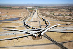 Autobahn-Austausch Stockfotos