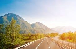 Autobahn. In Austrian Alps near Italy border royalty free stock photos