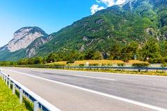 Autobahn autostrada w Szwajcaria fotografia royalty free