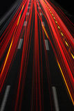 Autobahn bei Nacht/Autobahn nachts Stockfotos