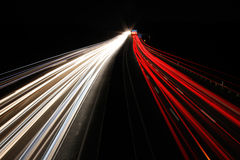 Autobahn bei Nacht  / Freeway at night Royalty Free Stock Image