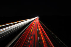 Autobahn bei Nacht  / Freeway at night Stock Images