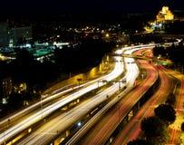 Autobahn-Bewegungsunschärfe Lizenzfreies Stockbild
