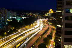 Autobahn-Bewegungsunschärfe Stockbild