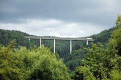 Autobahn bridge Stock Image