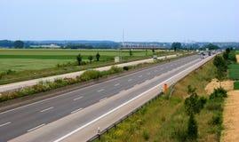 Autobahn in Duitsland Stock Afbeeldingen