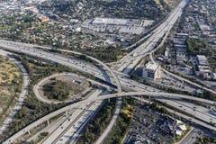 Autobahn Eagle Rock Califoria Venturas 134 Stockfotografie