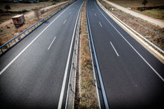 Autobahn Egnatia Odos Highway connecting Greece-Turkey. Royalty Free Stock Photos