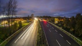 Autobahn A37 en Hannover en la tarde Timelapse almacen de video