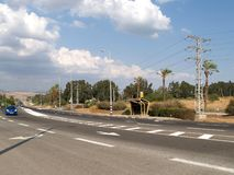 The autobahn in Galilee. Israel.  stock photos
