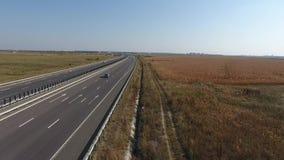 Autobahn gesehen von oben stock video