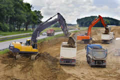 Autobahn highway in Germany under construction Stock Images