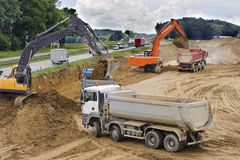 Autobahn highway in Germany under construction Stock Photography