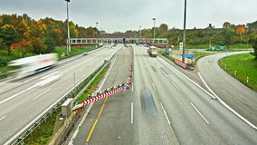 Autobahn/Highway Traffic time lapse. Time lapse sequence of Autobahn/Highway stock footage