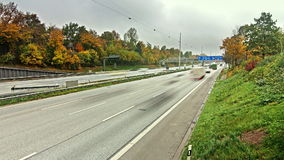Autobahn/Highway Traffic time lapse. Time lapse sequence of Autobahn/Highway stock video