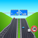 Autobahn infographics Stock Photo