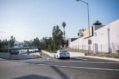 Autobahn 101 in Los Angeles Stockfotografie
