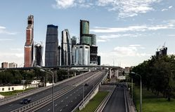 Autobahn in Moscow Royalty Free Stock Photos