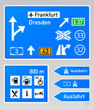 Autobahn signs Stock Photo
