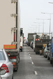 Autobahn-Stau Stockfotografie