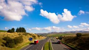 Autobahn timelapse M6 J37 stockbilder