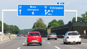 Autobahn with traffic in Austria stock photos