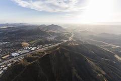 Autobahn Venturas 101 in Newbury Park Kalifornien Lizenzfreie Stockbilder