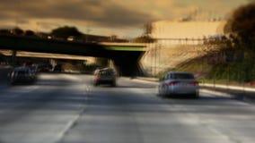 Autobahn-Verkehr 101 in Hollywood Kalifornien stock footage