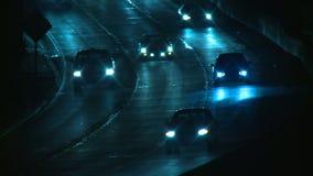 Autobahn-Zaun Rack Focus stock video footage