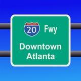 Autobahn zum Atlanta-Zeichen lizenzfreie abbildung