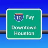 Autobahn zum Houston-Zeichen lizenzfreie abbildung