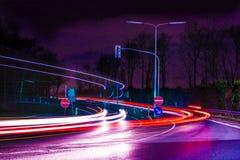 Autobahnausfahrt Arkivfoton