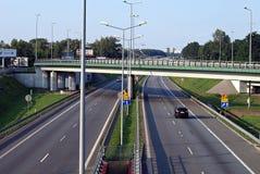 Autobahninfrastruktur lizenzfreie stockbilder