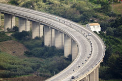 Autobahnkurve stockfotografie