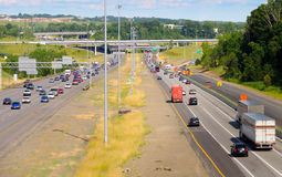Autobahnszene Stockbild