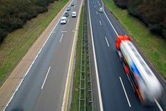 autobahntrafik Royaltyfria Foton