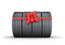 Autobanden als gift vector illustratie