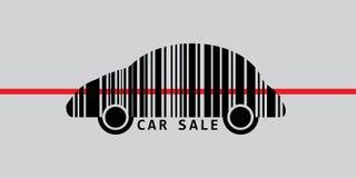 Autobarcode für Verkauf Stockfoto