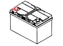 Autobatterie Stockfoto