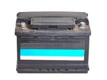 Autobatterie auf Weiß Lizenzfreies Stockbild