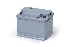 Autobatterie getrennt auf weißem Hintergrund Stockfotografie