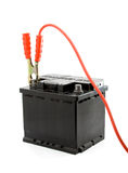 Autobatterie-Sprunganfang Lizenzfreie Stockfotos
