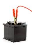 Autobatterie-Sprunganfang stockbilder