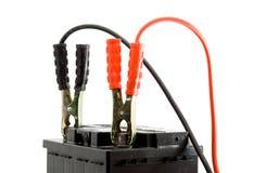 Autobatterie-Sprunganfang Stockfotos