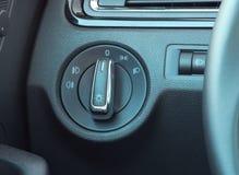 Autobeleuchtungsschalter Stockfoto