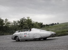 AUTOBLEU类型Mille Miglia 1954年 图库摄影