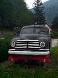Autoblindata di Skoda Vos modificata come draisine, visualizzato nella stazione ferroviaria di Sinaia, la Romania Fotografia Stock Libera da Diritti